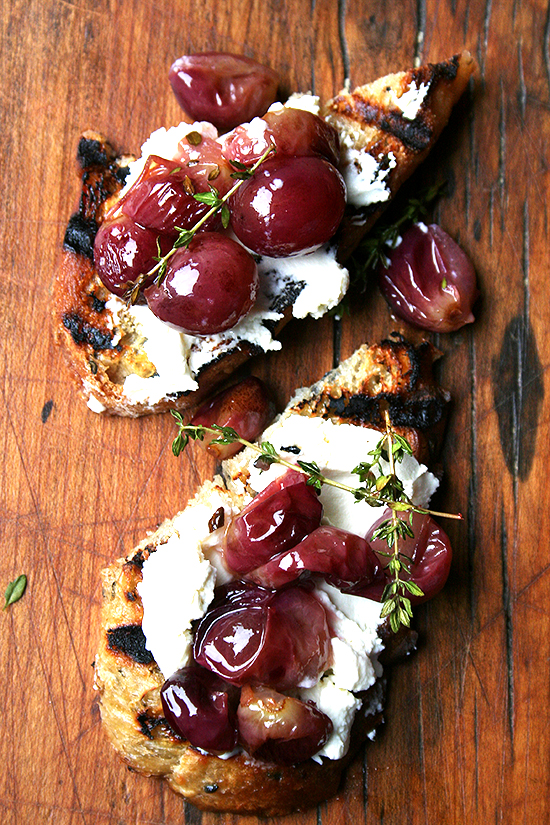 Roasted Grape Bruschetta