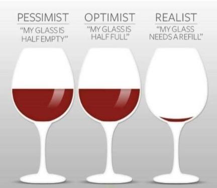 Wine Pessimist Optimist Realist