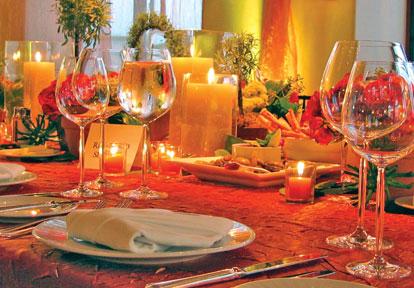 Падение свадебные украшения оранжевый бокалы
