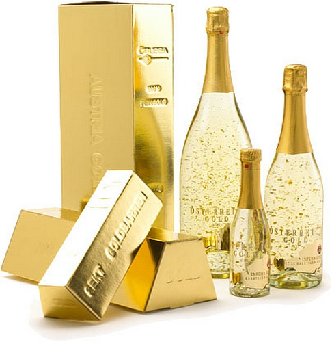 Sparking Gold Wine