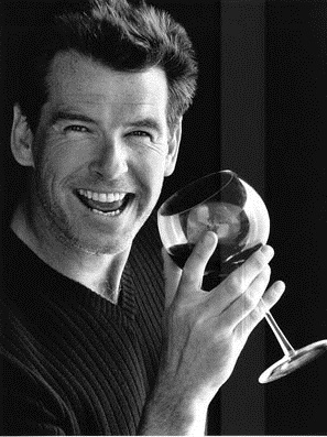 Pierce Brosnan Drink Wine