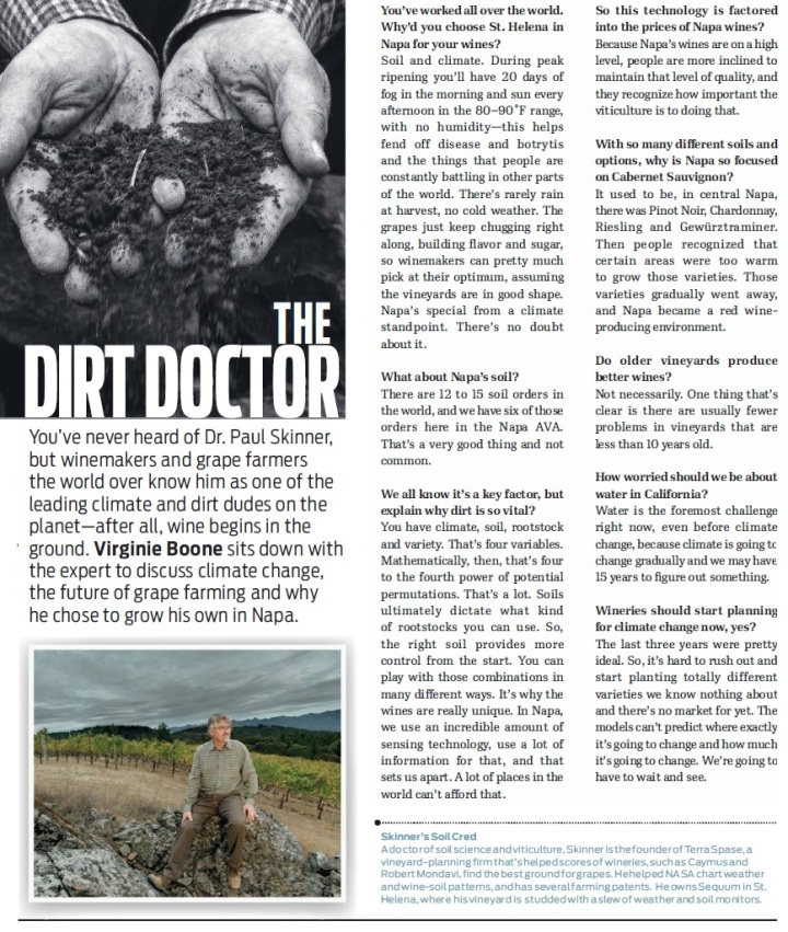 The Dirt Doctor Paul Skinner  Wine Enthusiast 2014 December