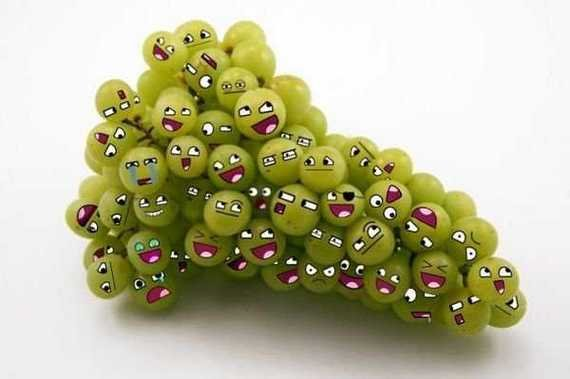 grapes faces