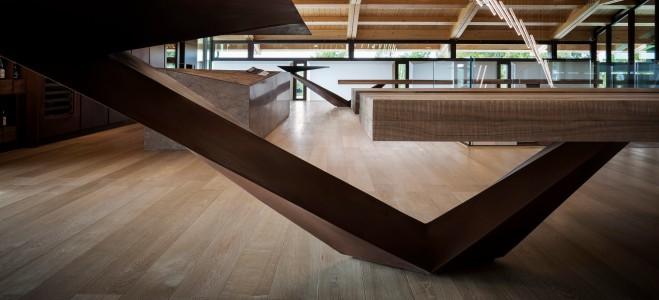 Le Monde vinsmagning værelse, arkitektur Alessandro Isola, Italien