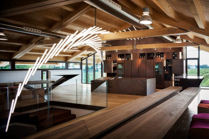 Wine Tasting Room Le Monde Architects Alessandro Isola in Prata di Pordenone Italy 2014