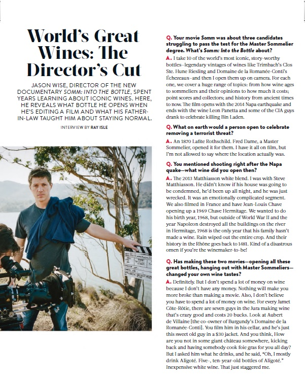 Jason Wise on Food and Wine December 2015