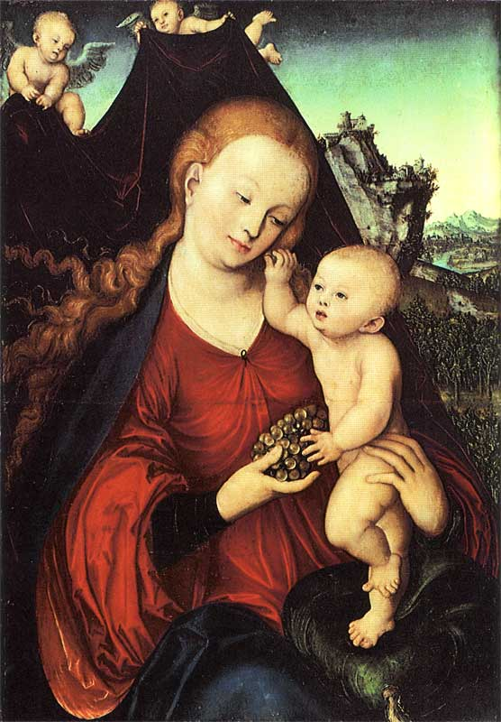 Madonna and Child with a Bunch of Grapes - Lucas Cranach the Elder.jpg