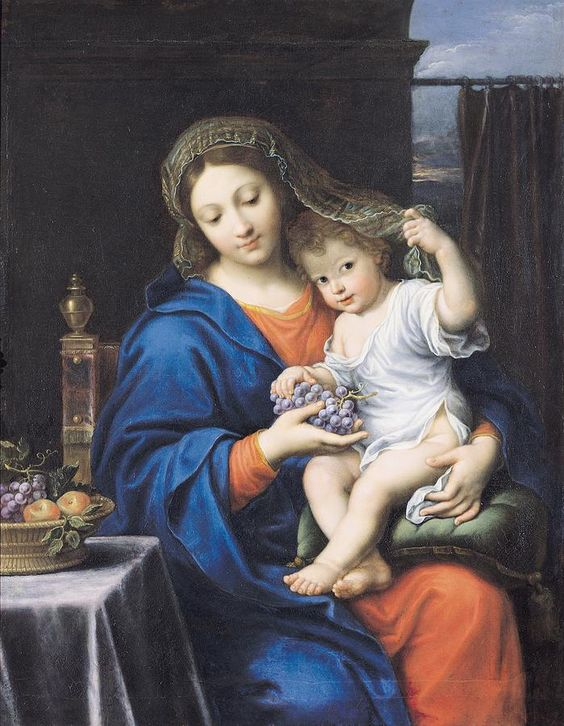 Pierre Mignard (1612-1695) — The Virgin of the Grapes,1640-1650  The Louvre, Paris. France.jpg