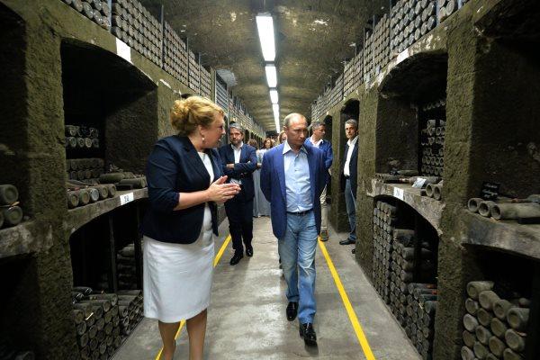 Massandra winery in Yalta Crime and President Vladimir Putin of Russia.jpg