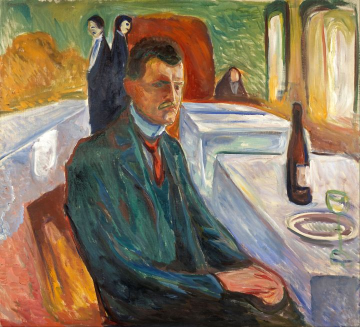 Edvard Munch Self Portrait with a Bottle of Wine 1906.jpg