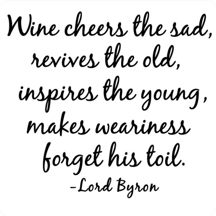 Lord Byron Wine cheers the Sad