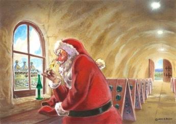 Santa Christmas Wine