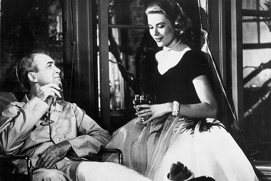 Grace Kelly James Stewart Rear Window Wine 1954