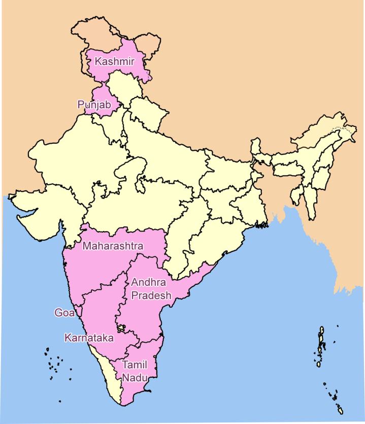 India Wine Map