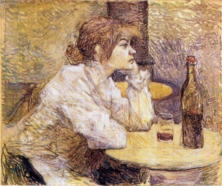Portrait of Suzanne Valadon Henri de Toulouse-Lautrec