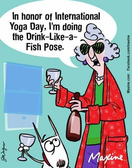 drink wine like a fish yoga